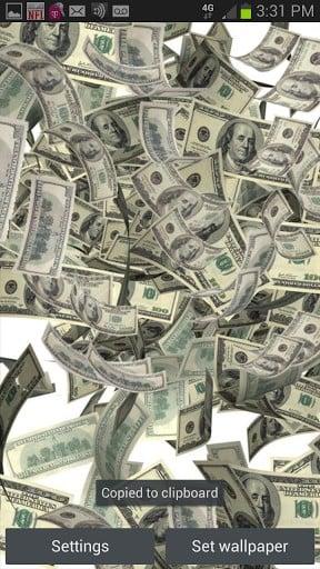 View Bigger Raining Money Live Wallpaper For Android Screenshot 288x512