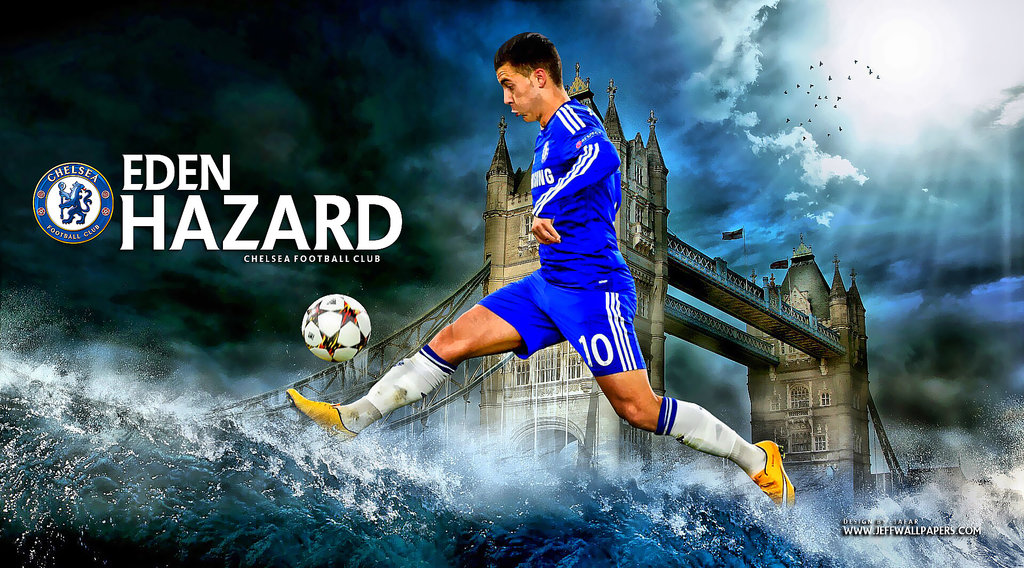 Free Download Eden Hazard Wallpaper By Jafarjeef 1024x568