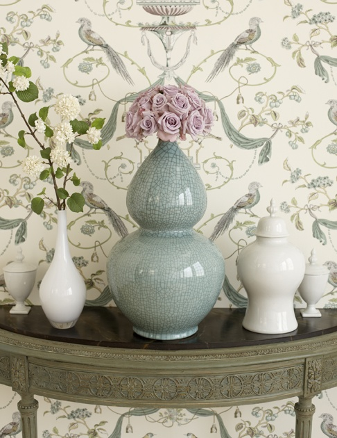 Stroheim Hinson in Seamist from the PALETTES wallcovering collection 486x630