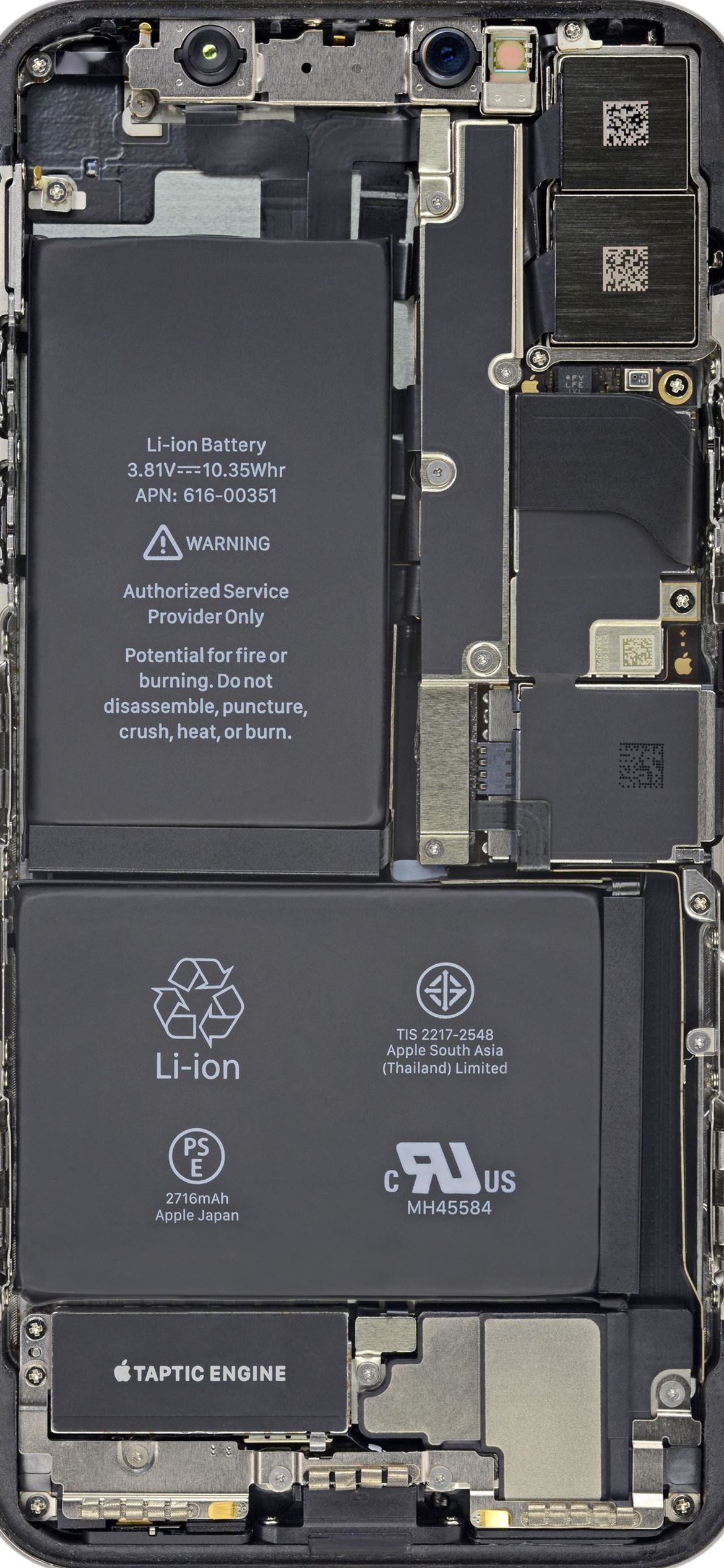 Cool Insides By Ifixit Battery Hd iPhone 12 Wallpapers Download 1170x2532