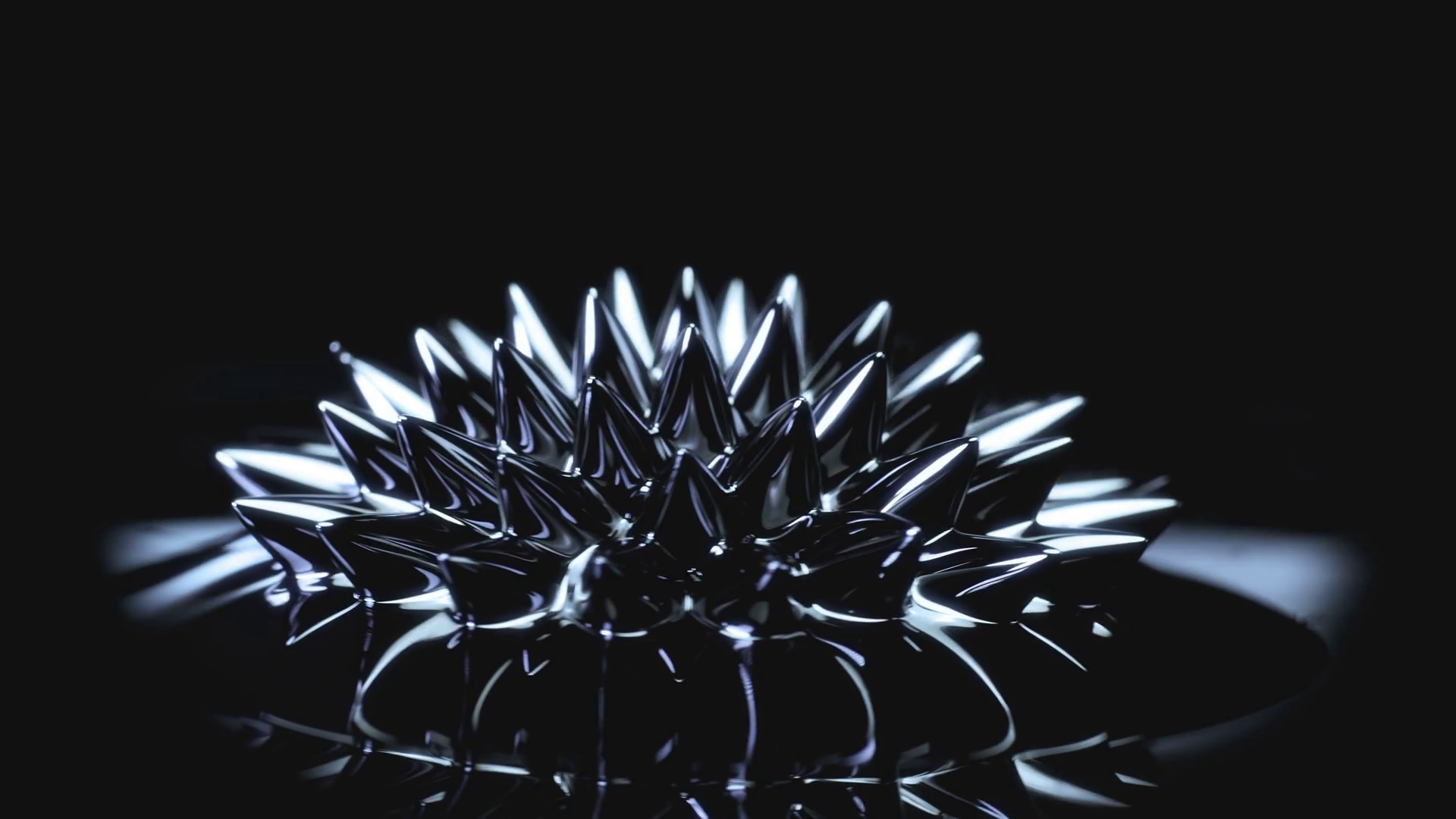 Ferrofluid Black liquid surface Abstract background Stock Video 1920x1080