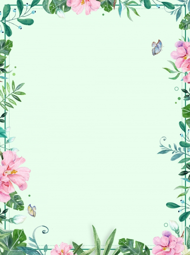 Flower Plant Border Background Format Flowers Background Plant 640x856