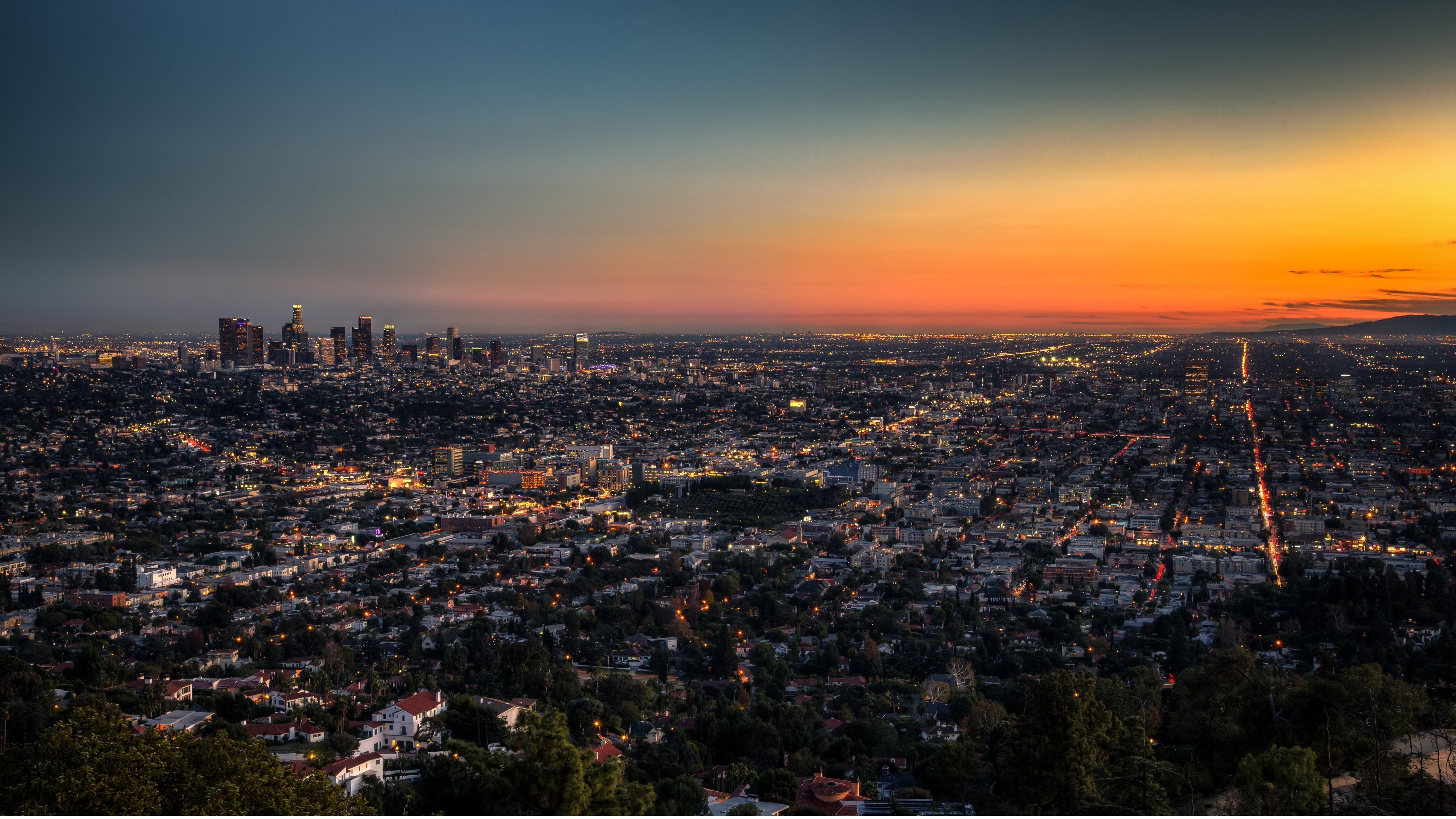 Los Angeles at Dusk HD Wallpapers 4K Wallpapers 3840x2160
