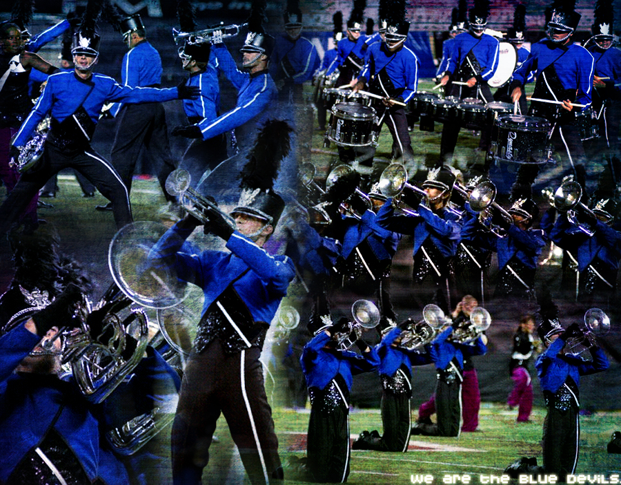 Bluecoats Drumline Wallpaper We are the blue devils by stickshifty 900x702