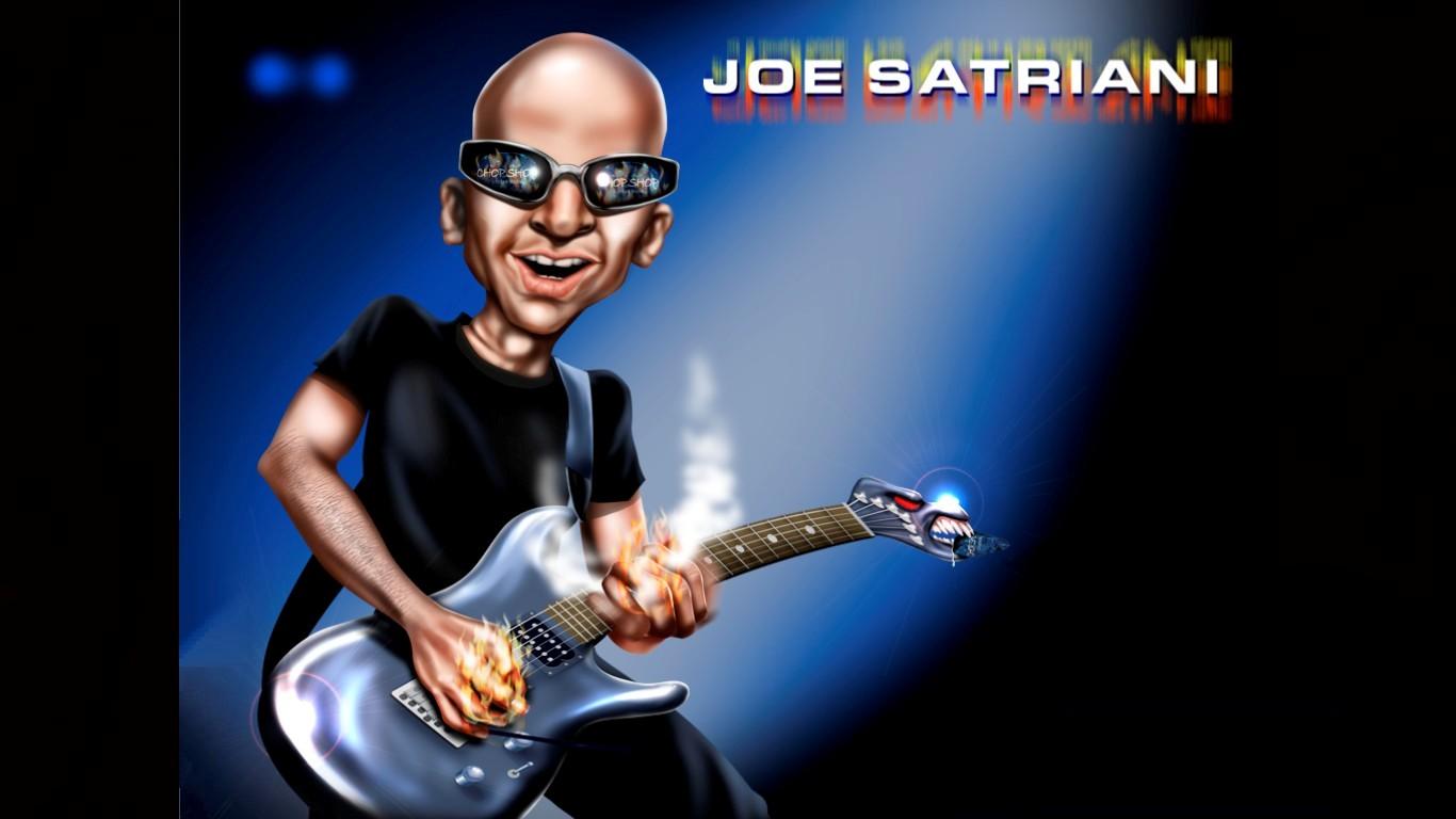 Music   Joe Satriani   Music Wallpaper 1366x768