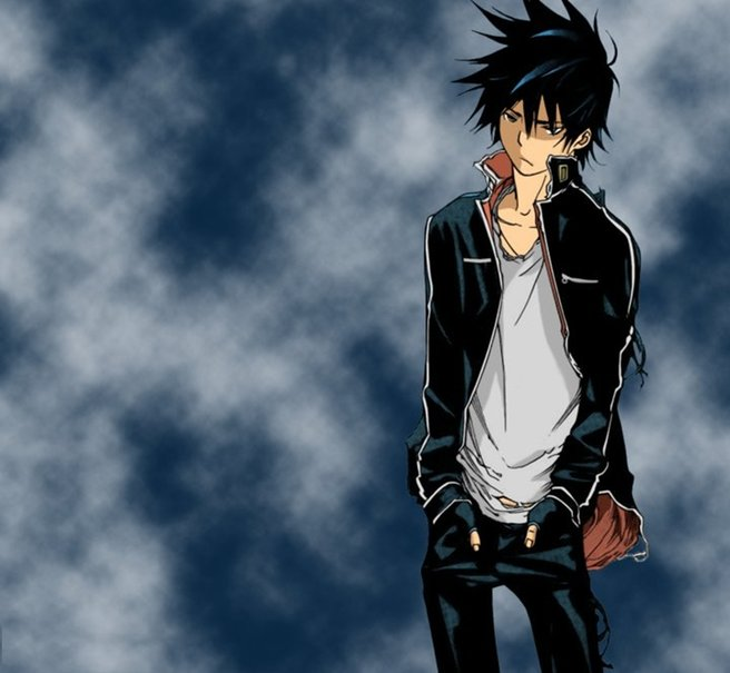 Anime cool guy wallpaper wallpapersafari - Cartoon boy wallpaper ...