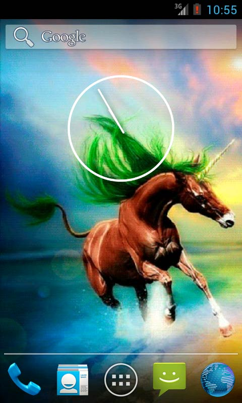 Download Colorful Unicorn Live Wallpaper apps for Android phone 480x800