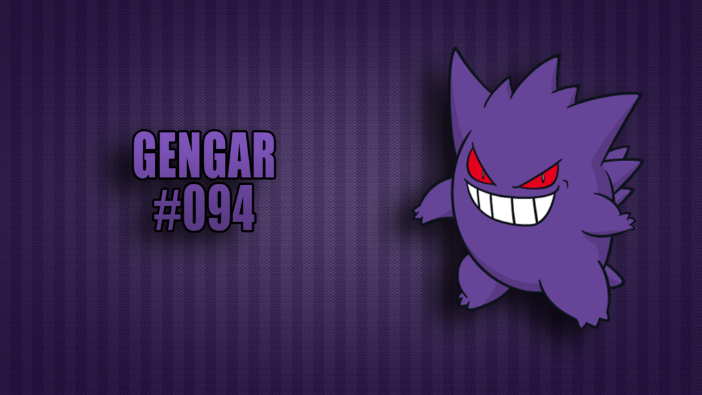 Gengar 094 Wallpaper by MrEspurr 1024x576