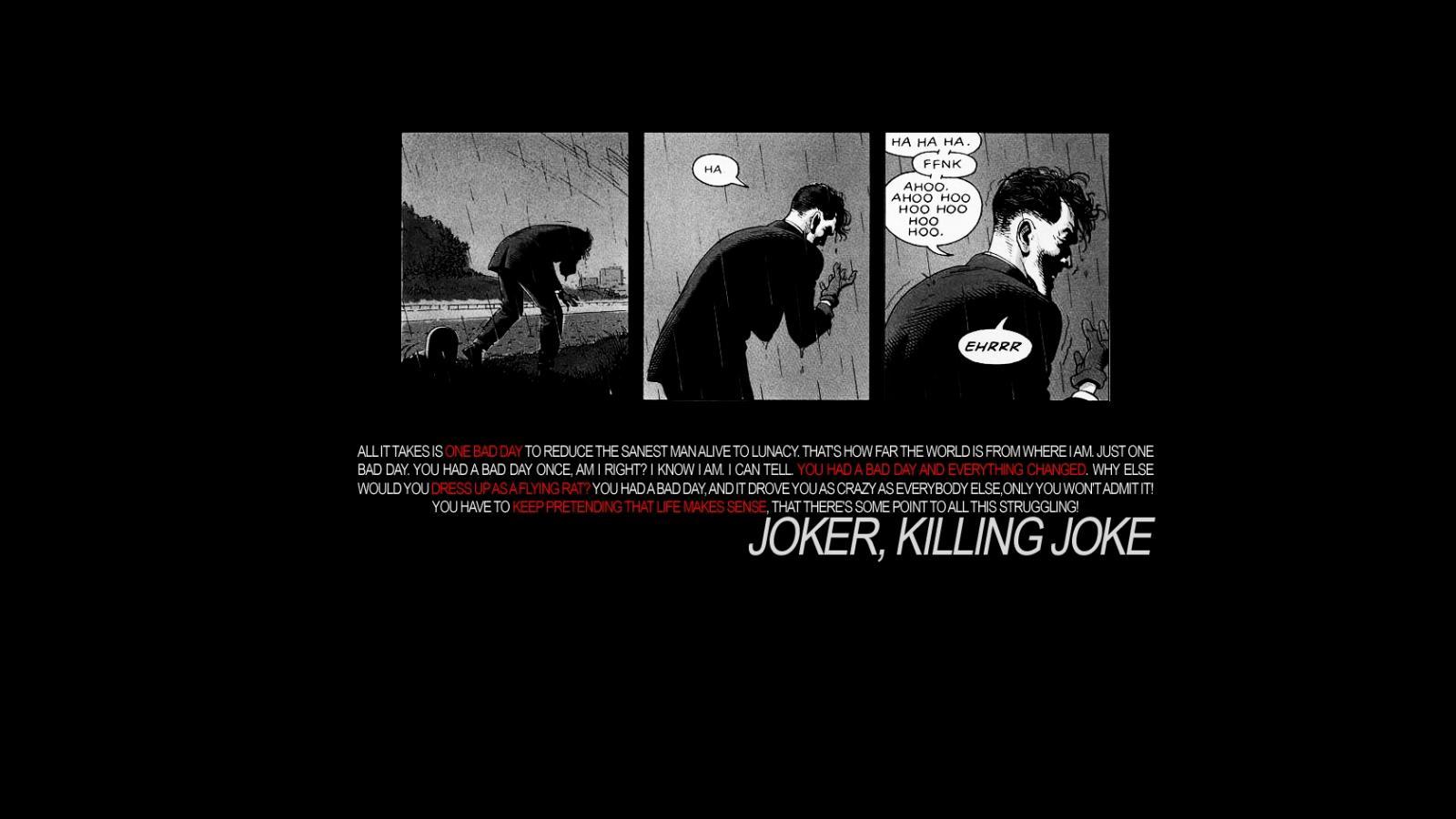 dc comics the joker killing joke HD Wallpaper   Funny Humour 1600x900