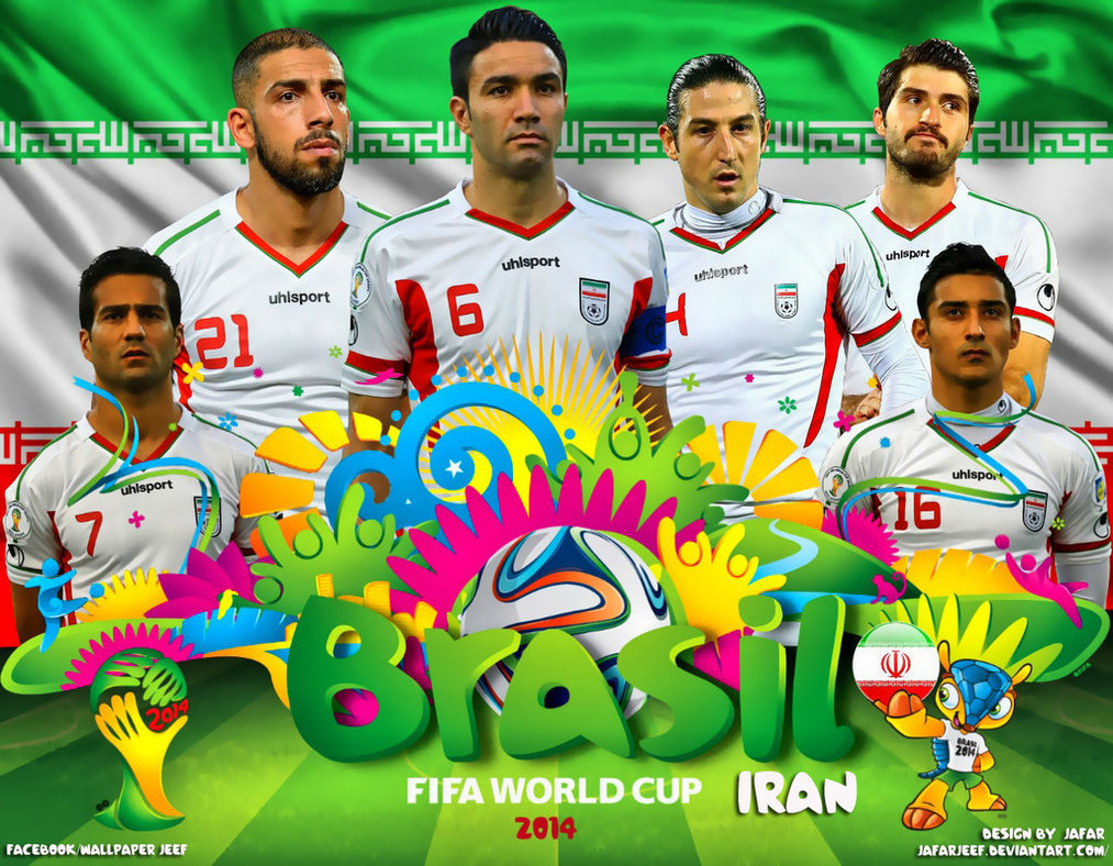 Iran World Cup 2014 Wallpaper by jafarjeef 1013x788