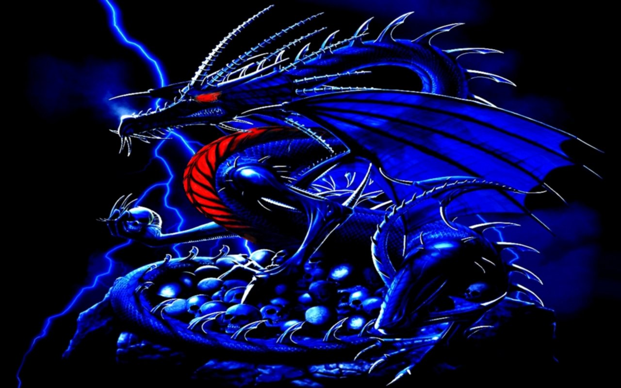 blue wallpaper 46 Blue Dragon Wallpaper 1280x800