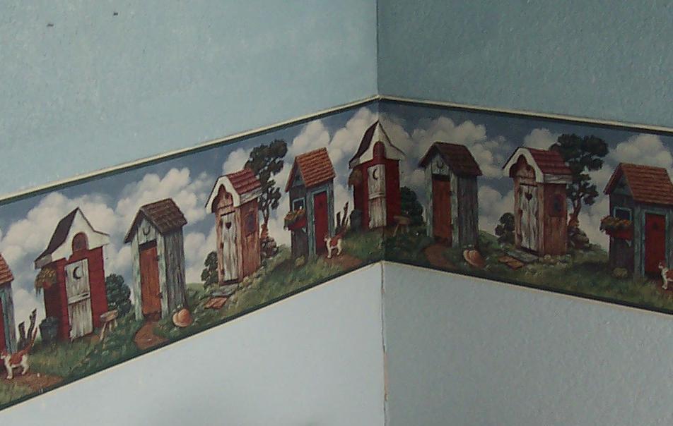 wallpaper border bathroom on Outhouse Wallpaper Border Bathroom 952x604