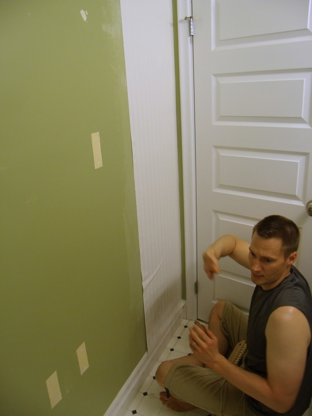 Frugal Family Times How to Install Beadboard Paintable Wallpaper 1200x1600