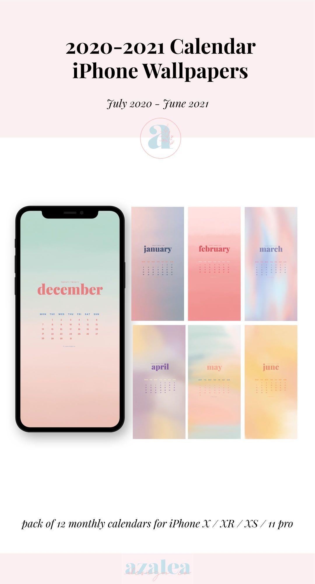 2021 Watercolour iPhone Calendars Phone Wallpaper Instant Etsy 1080x2005