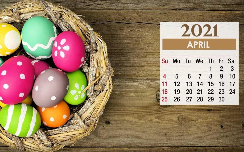 2021 Easter April Calendar Wallpaper   KoLPaPer   Awesome HD 1440x900