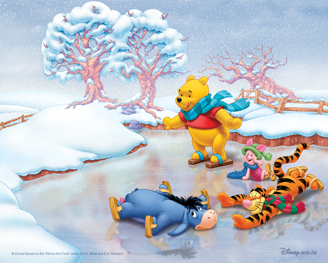 Tops Wallpapers Disney Christmas Wallpapers Set 2 1280x1024