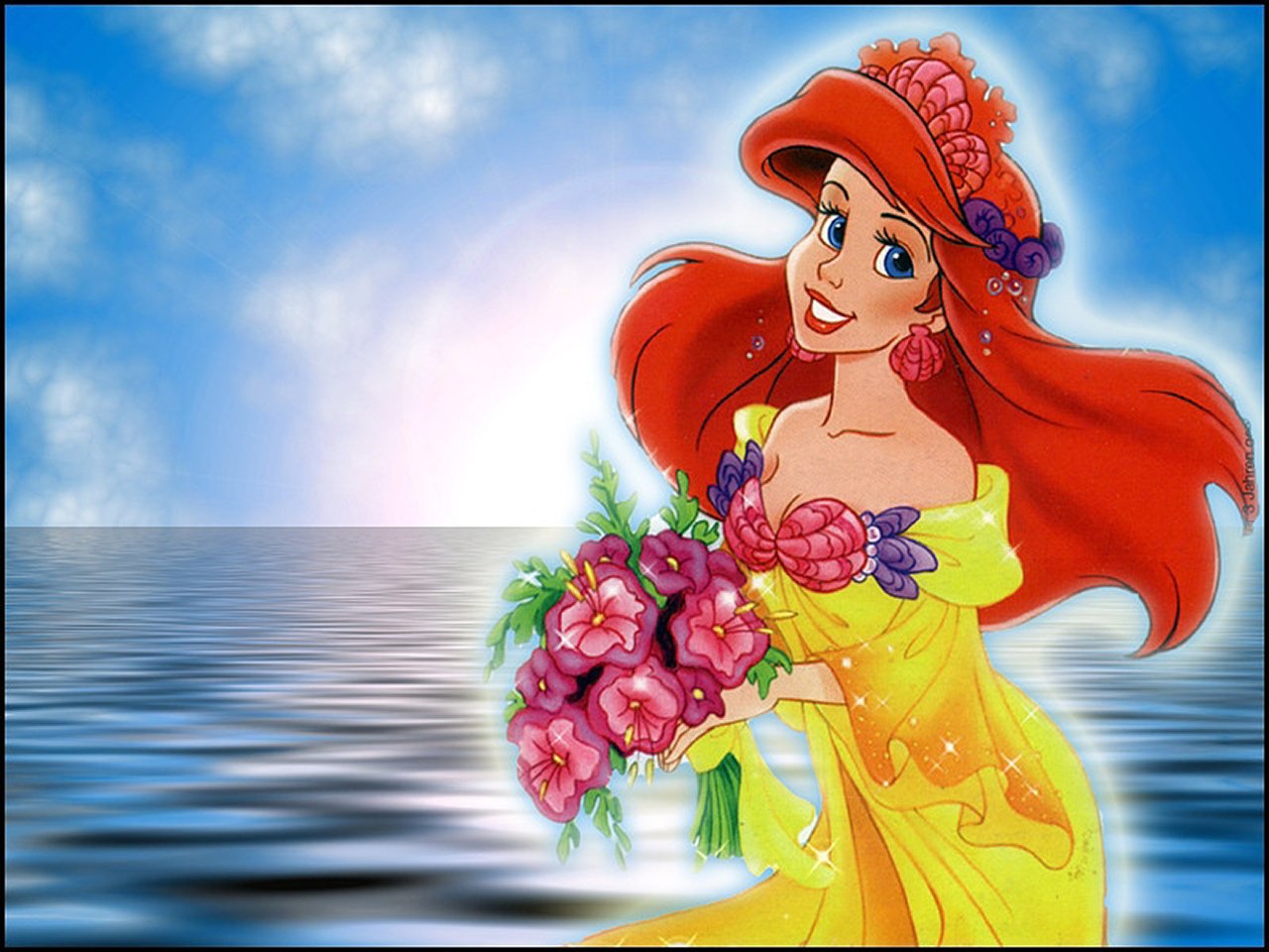 1280x960px the little mermaid wallpaper desktop - wallpapersafari