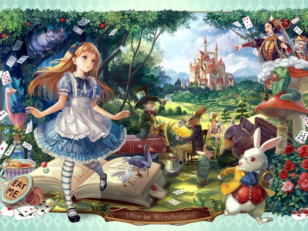 Free Download Alice In Wonderland Wallpaper Anime Girls Wallpaper