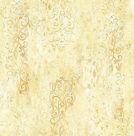 Distressed Plaster Wallpaper   Ironwork Textural Design Old World 570x577