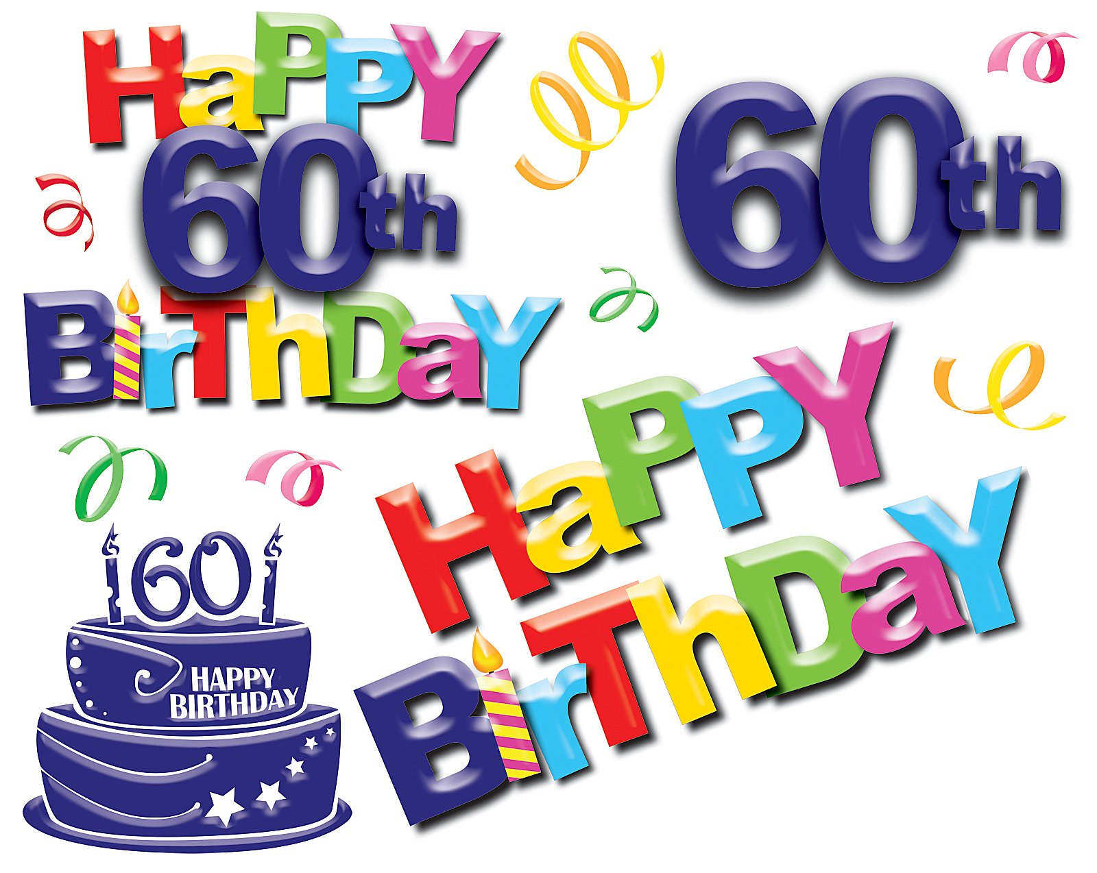 Happy 60th Birthday Image Pic Hd Wallpaper 1600x1274