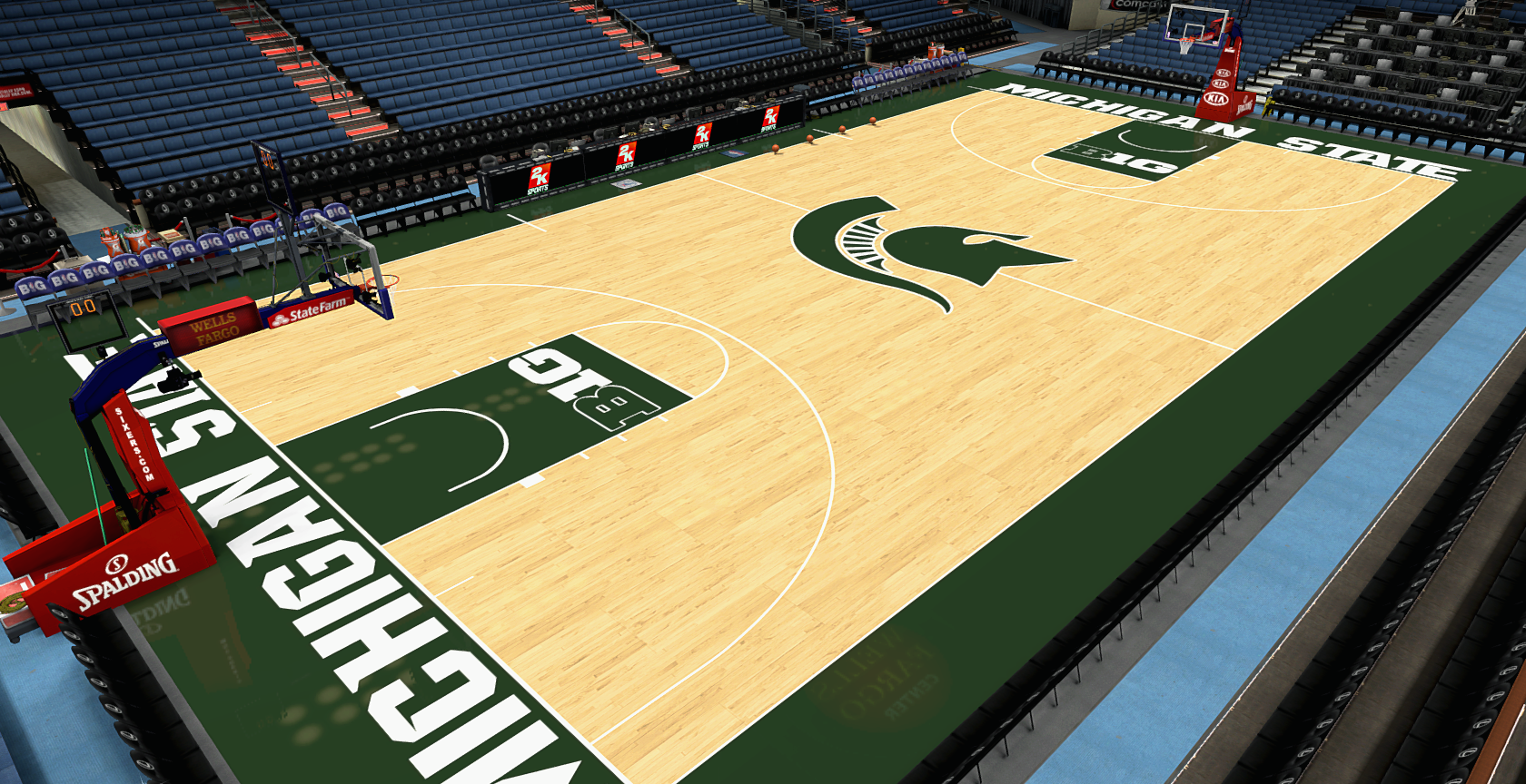 Michigan State Basketball Court 2014 Michigan State Court 1680x864