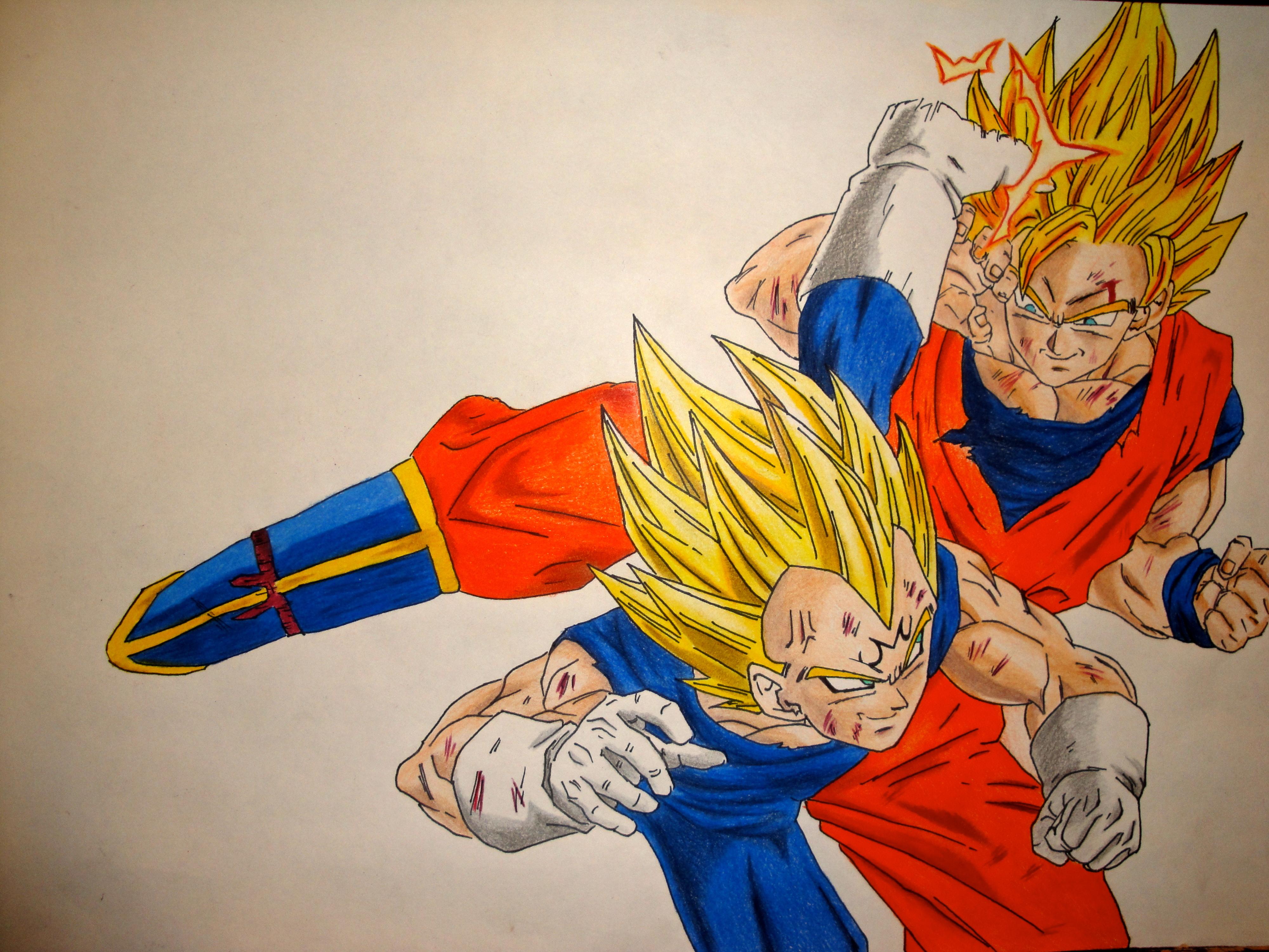 Goku Vs Vegeta HD Wallpaper Animation Wallpapers 4000x3000