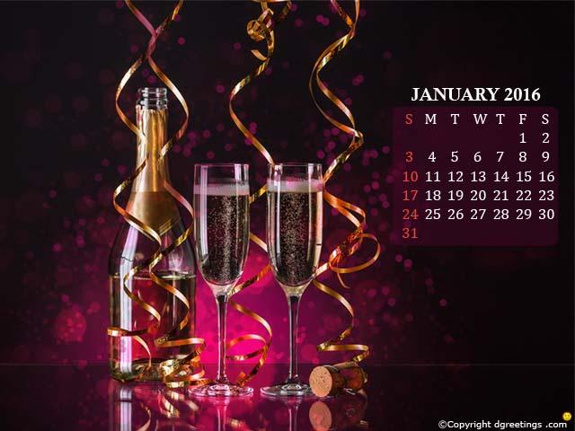 January 2016 Calendar 640x480