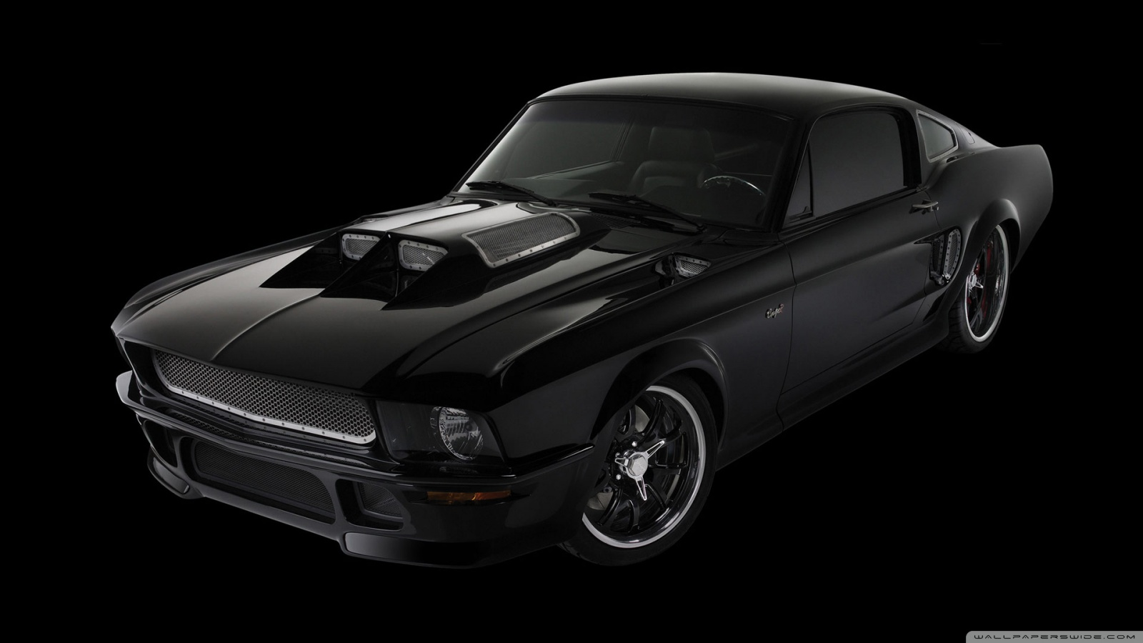 black ford mustang wallpaper 1600x900   black ford mustang wallpaper 1600x900