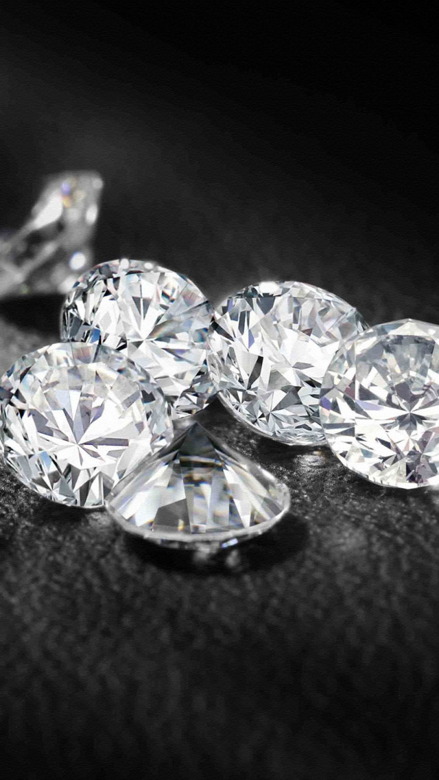 Diamonds Wallpaper Loose diamonds iphone 5 640x1136