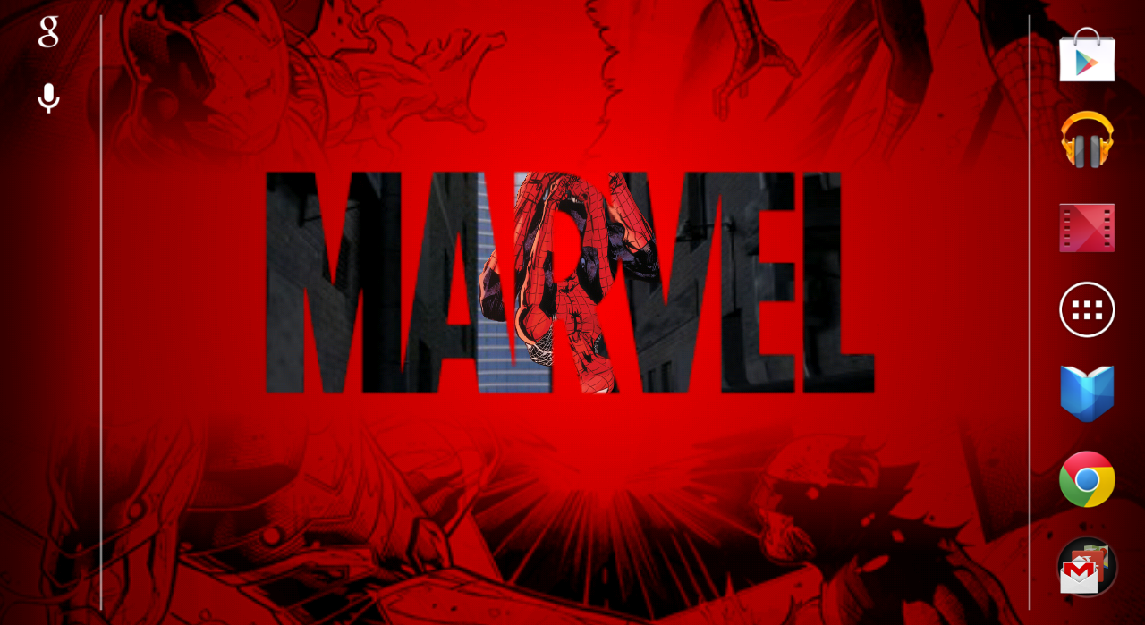 Marvel Heroes Live Wallpaper screenshot 1280x699