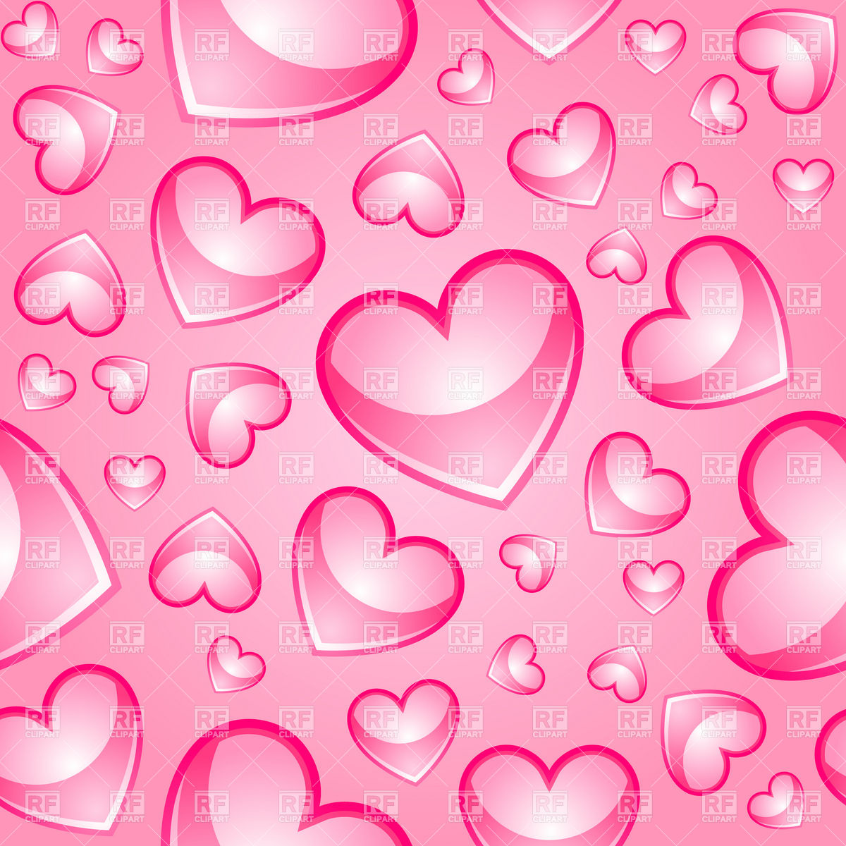 download Seamless pink background with glossy hearts 17383 1200x1200