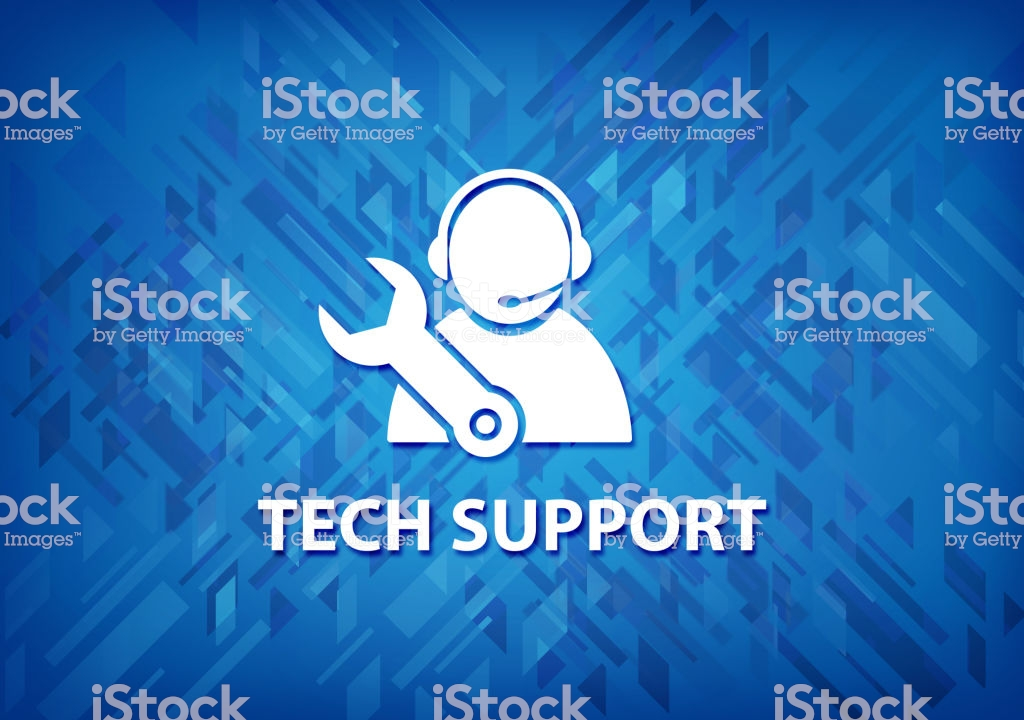 Tech Support Blue Background Stock Vector Art More Images of 1024x720