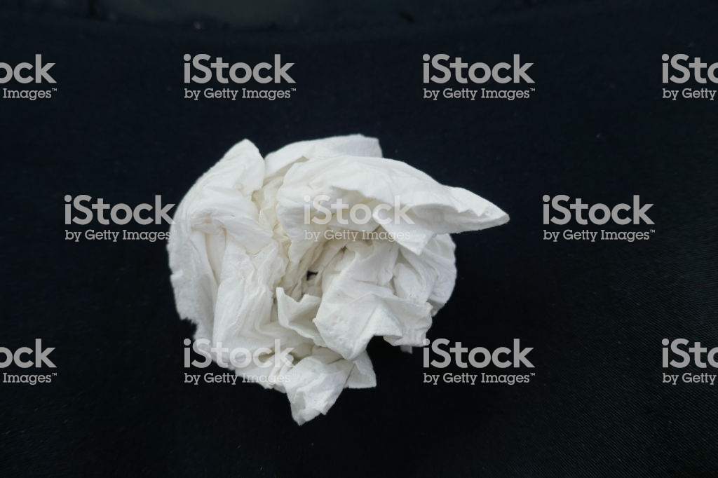 Paper Handkerchief Crumpled Closeup Isolated On Black Background 1024x682