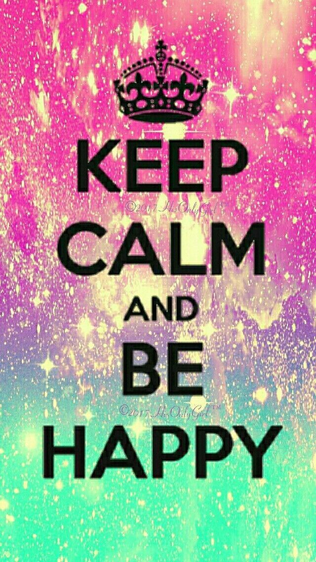 Keep Calm Be Happy Galaxy IPhone Android Wallpaper I Created For 640x1136