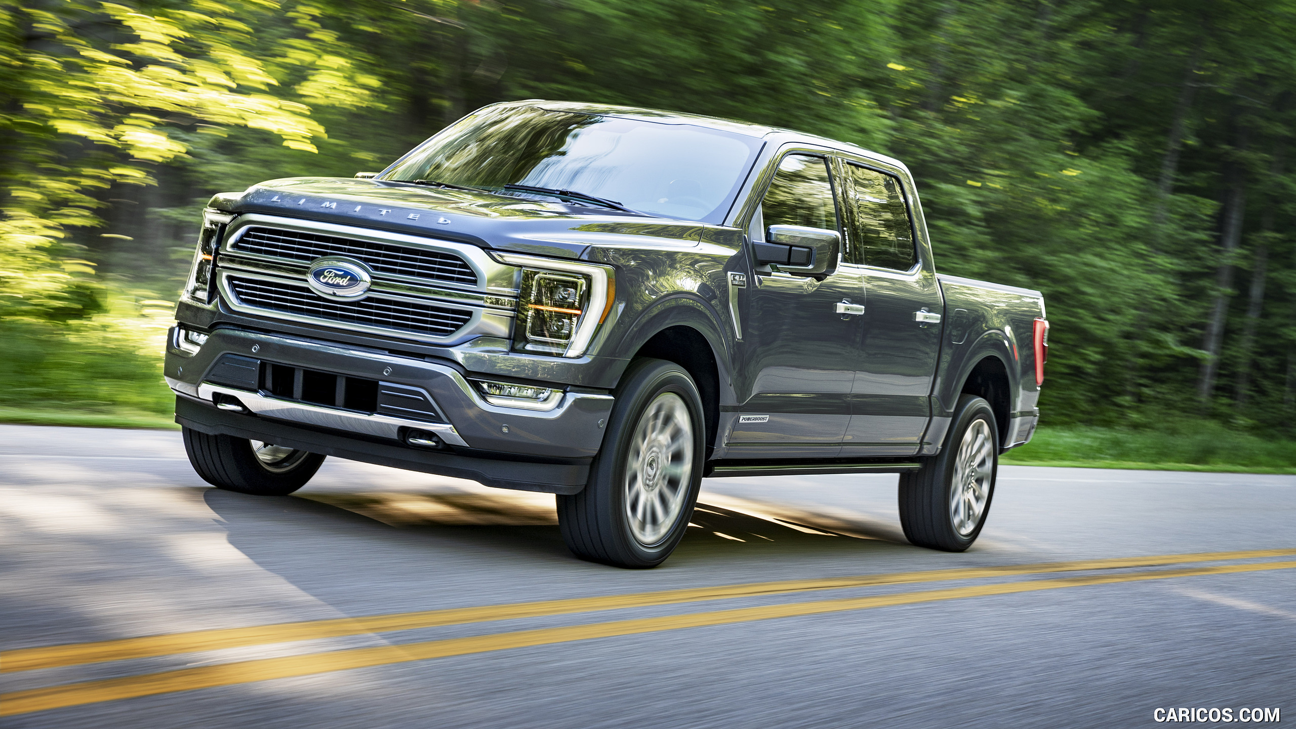 2021 Ford F 150 Limited Color Smoked Quartz   Front Three 2560x1440