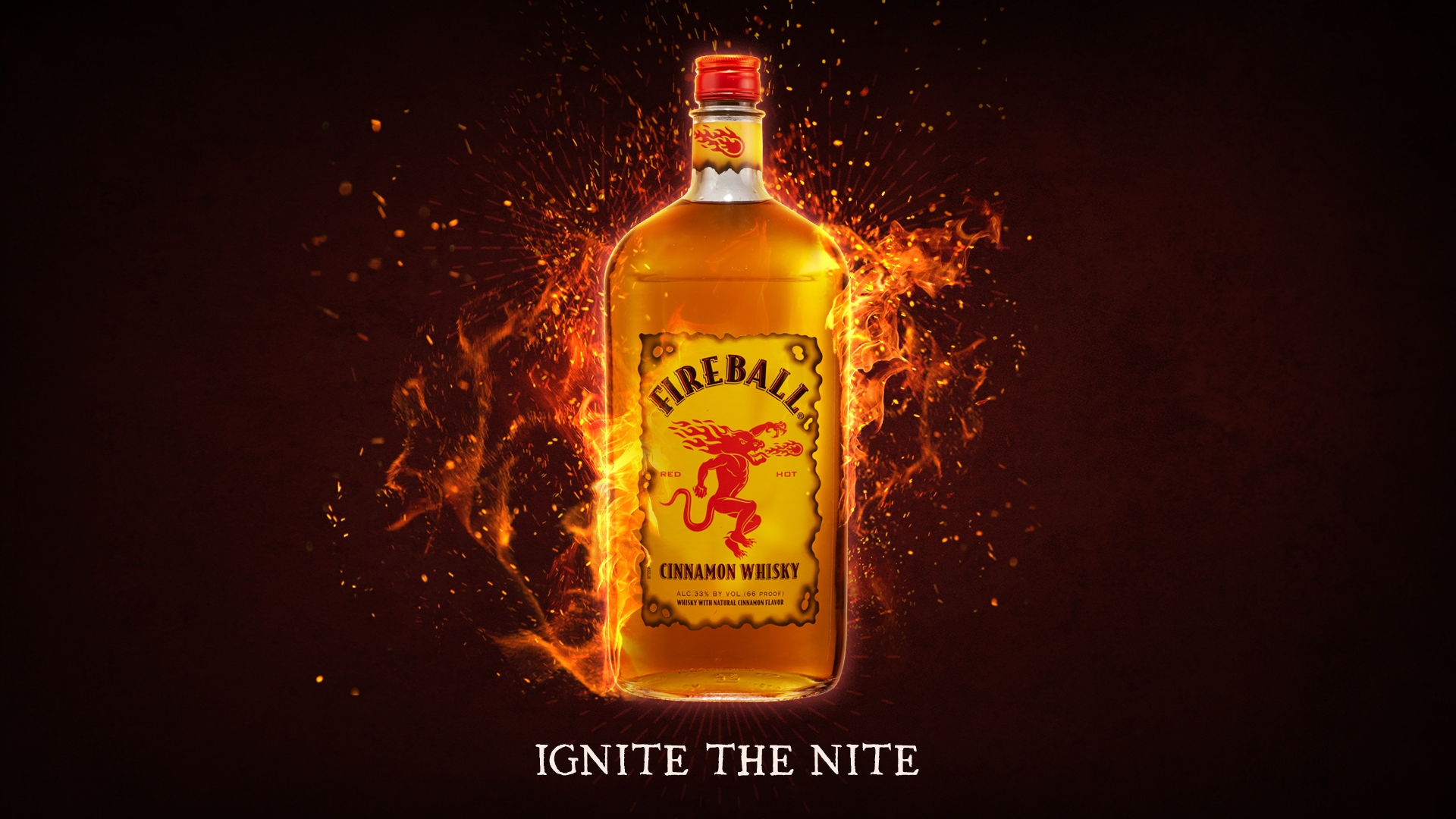 Fireball Cinnamon Whisky Tastes like Heaven Burns like Hell 1920x1080