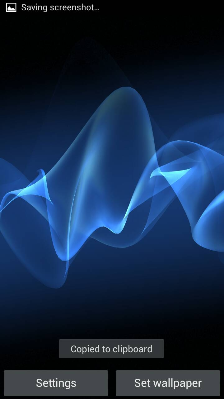 Sony Xperia Cosmic Blue Wallpaper