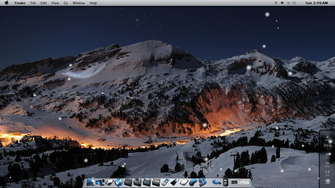 Mac Winter Wallpapers 1366x768