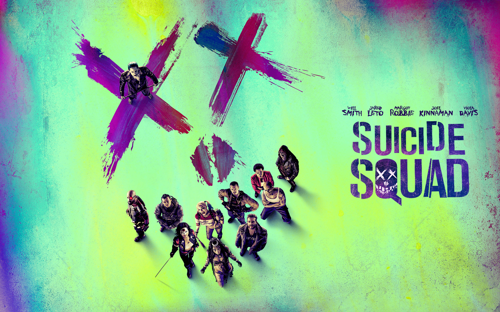Suicide Squad first official trailer new poster and a wallpaper 1680x1050