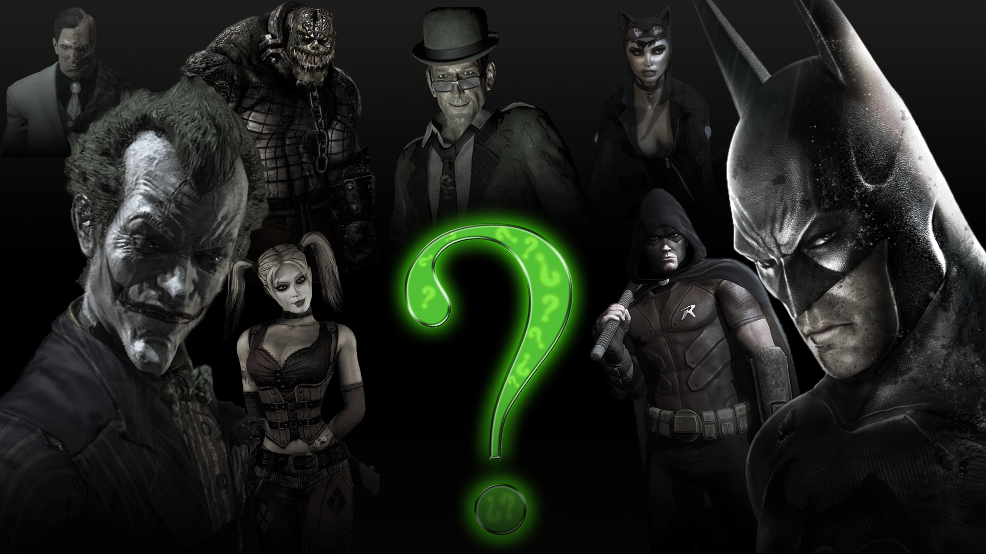 Batman Arkham City Batman Arkham Stad Joker Riddle Wallpaper 1920x1080
