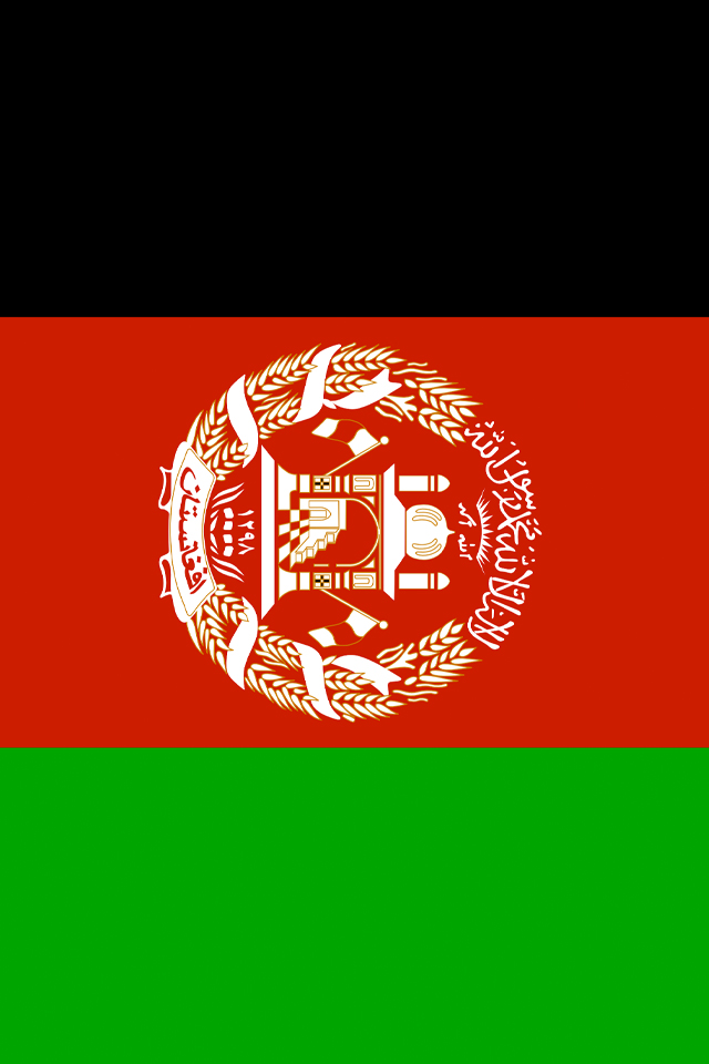Afghanistan Flag iPhone Wallpaper HD 640x960