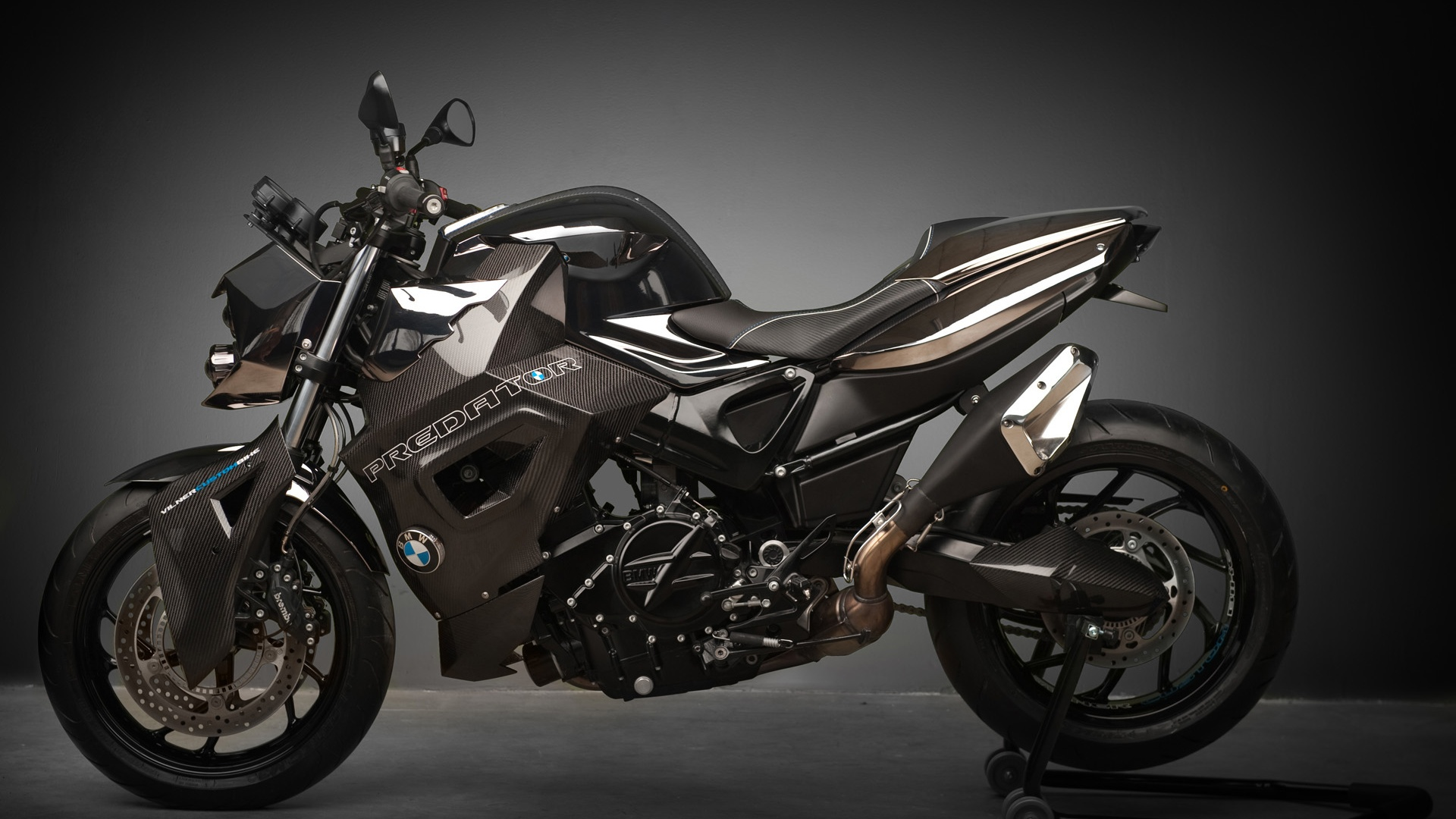 F800 R Predator Static Gray Background desktop PC and Mac wallpaper 1920x1080