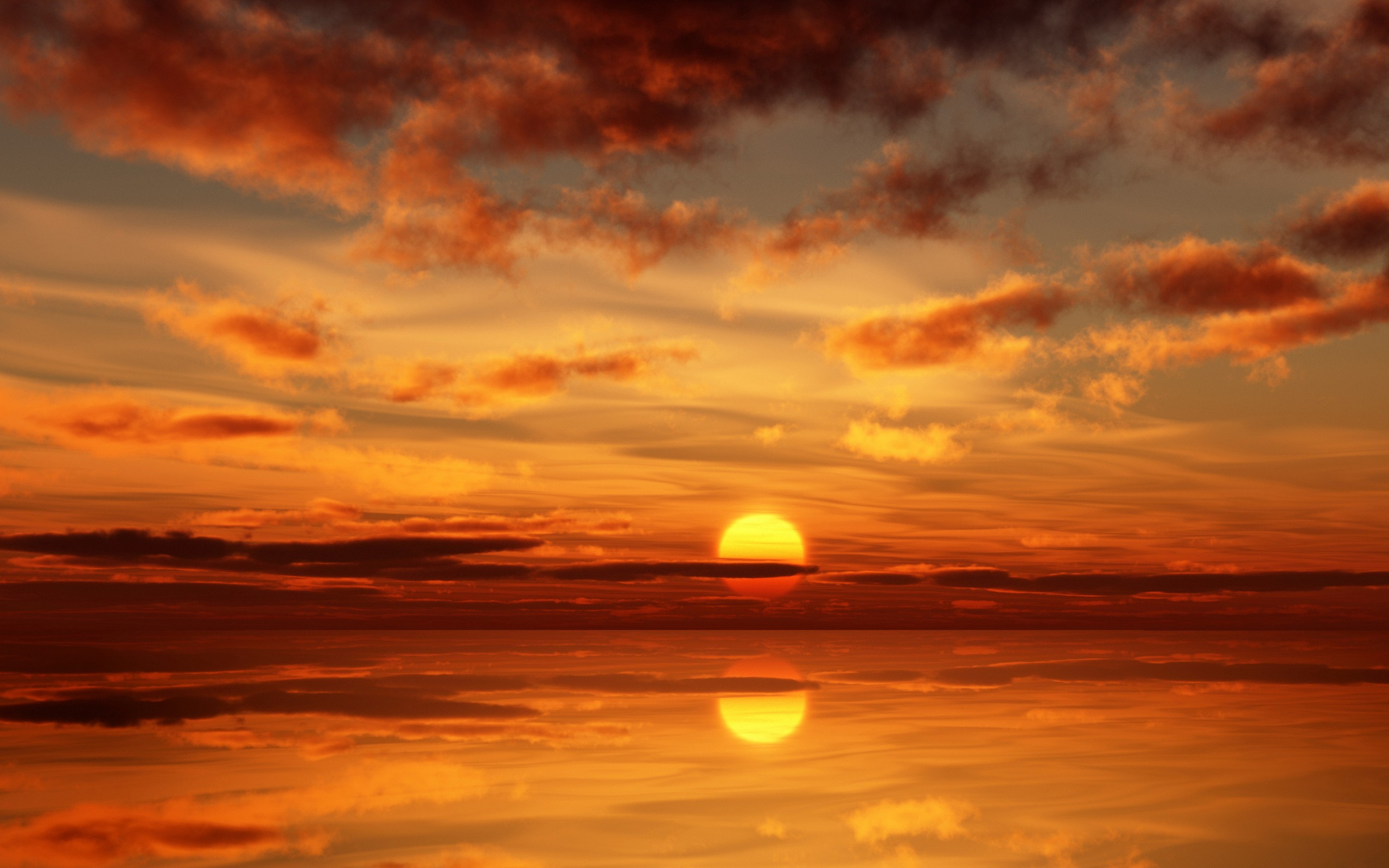 Sunset Ocean Wallpaper 2560x1600 Sunset Ocean Landscapes Nature 2560x1600