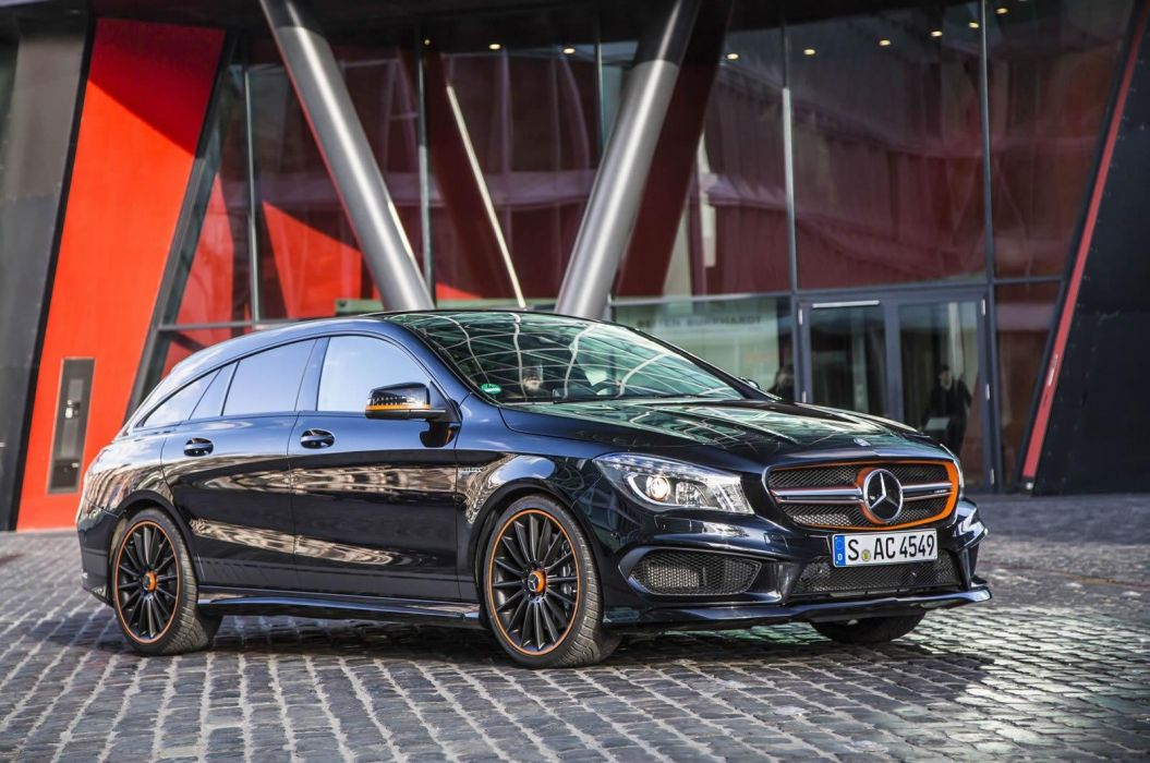 Mercedes Benz CLA 45 AMG Shooting Brake OrangeArt Edition wagon 1055x700