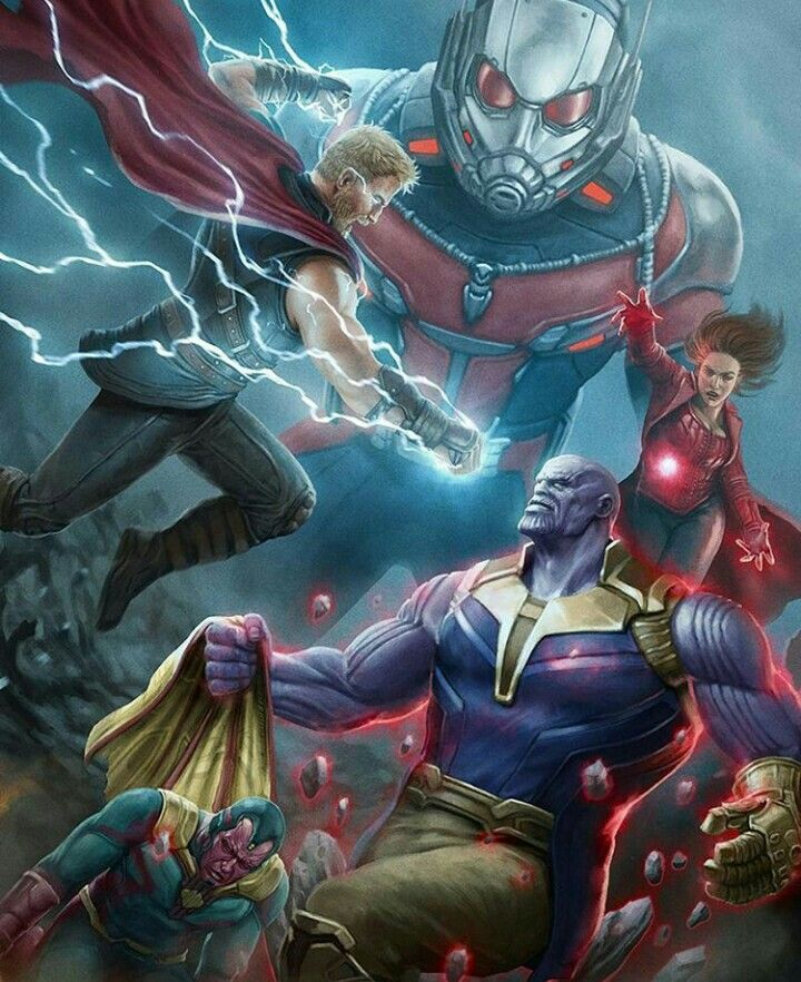 Check out this AMAZING fan art of Thor Vs Thanos Art by 720x882
