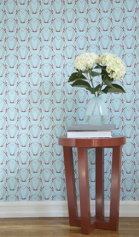 Blue and Coral Red AL001 Alto Self Adhesive Wallpaper 3747 534x907