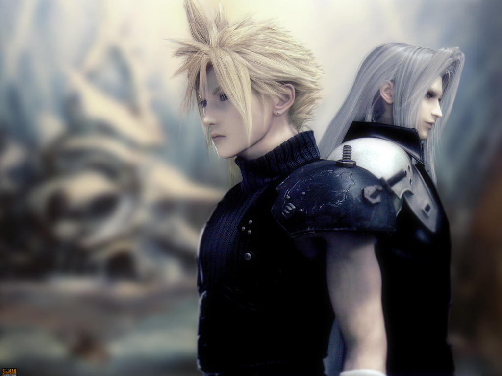 cloud and seph   Final Fantasy VII Wallpaper 22590801 1024x768