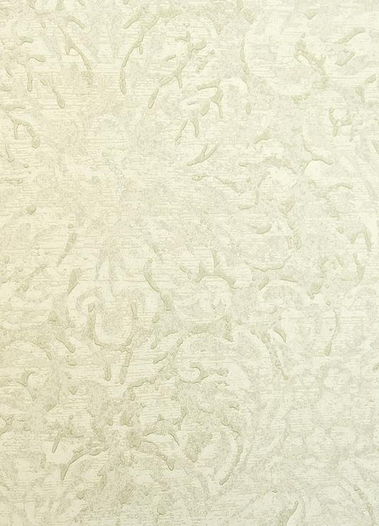Faded Damask Wallpaper Faded Damask Wallpaper in pale green 534x740