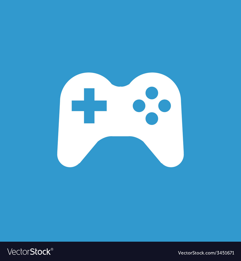 Joystick icon white on the blue background Vector Image 1000x1080