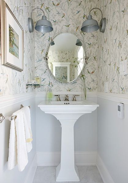 wallpaper   perfect for the beach house   Design by Sarah Richardson 418x599